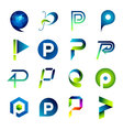 Icon design based on letter P vector image vector image