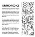 injury rehabilitation tools orthopedics line vector image vector image