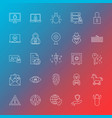 internet security line icons vector image