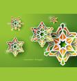 islamic art ramadan celebration background vector image vector image