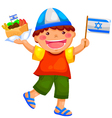 israeli kid vector image vector image