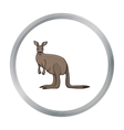 Kangaroo icon in cartoon style isolated on white vector image vector image