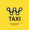 logo for a taxi company vector image vector image
