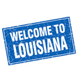Louisiana blue square grunge welcome to stamp vector image vector image