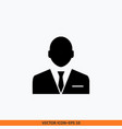 manager icon sign web office solid black on vector image