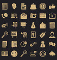 marketing in internet icons set simple style vector image vector image