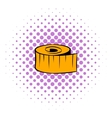 Measuring tape icon comics style vector image vector image