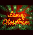 merry christmas background with christmas tree vector image vector image