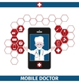 Mobile healthcare services vector image