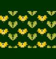 oak leaf on green background vector image vector image