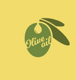 olive oil logo nature food background vector image