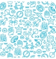 outline seafood sushi seamless pattern vector image vector image