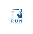 people run logo vector image vector image