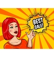 Pop Art Sale Background vector image