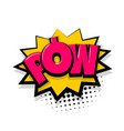 pow comic text white background vector image vector image
