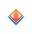 rectangular arrow business logo vector image vector image