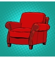 Red armchair furniture vector image vector image