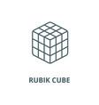 rubik cube line icon linear concept vector image