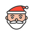 santa face merry christmas related icon set vector image vector image