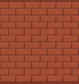 seamless brick wall pattern in cartoon style vector image