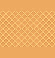 seamless pattern of waffle vector image vector image