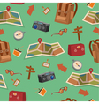 seamless pattern with camping elements vector image vector image