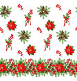 seamless pattern with cone fir branches vector image vector image