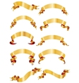 set golden ribbons or banners for your text vector image vector image
