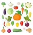 Set of flat vegetables vector image vector image