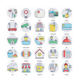 set of home services icons vector image vector image
