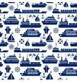 Ships and boats marine seamless background vector image vector image