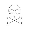 skull danger sign icon vector image vector image