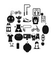 slimming icons set simple style vector image