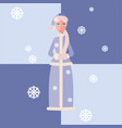 snow maiden in flat style christmas vector image