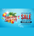 summer sale design with typography letter on vector image vector image