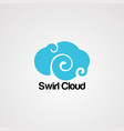 swirl cloud logo iconelement and template vector image vector image