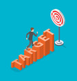 target flat isometric concept vector image vector image