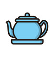 tea pot icon isolated on white background from vector image