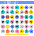 ui and internet icon set trendy flat icons vector image