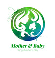 watercolor effect of mother silhouette vector image vector image