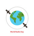 world radio dayearth globe vector image vector image