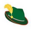 oktoberfest hat icon flat style isolated on white vector image