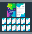 2020 calendar desk calendar modern design vector image vector image