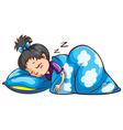 A young girl sleeping vector image vector image