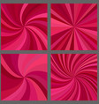 Abstract spiral and ray burst background set vector image vector image