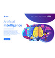artificial intelligence concept landing page vector image vector image