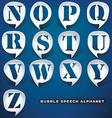 Bubble speech letters vector image
