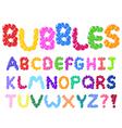 bubbles alphabet vector image vector image