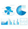 business diagrams set vector image vector image