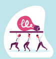 business people team carry light lamp icon new vector image